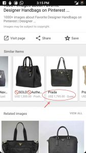Google Image Search Related Items