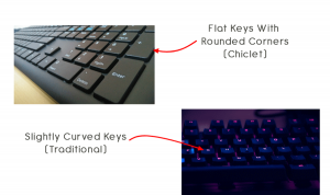 Chiclert Keyboard vs Traditoinal Keyboard