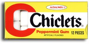 Chiclets Chewing Gum
