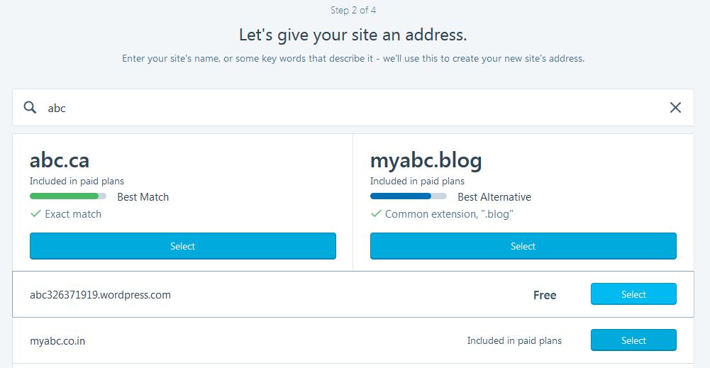 Selecting Domain