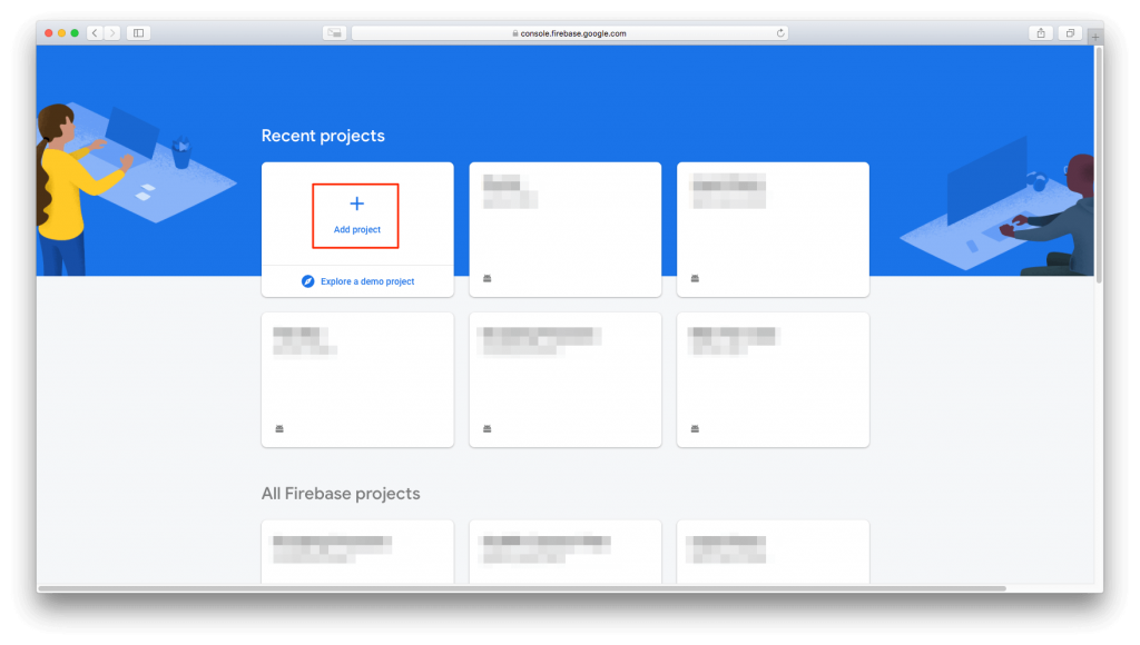 Add project to Firebase