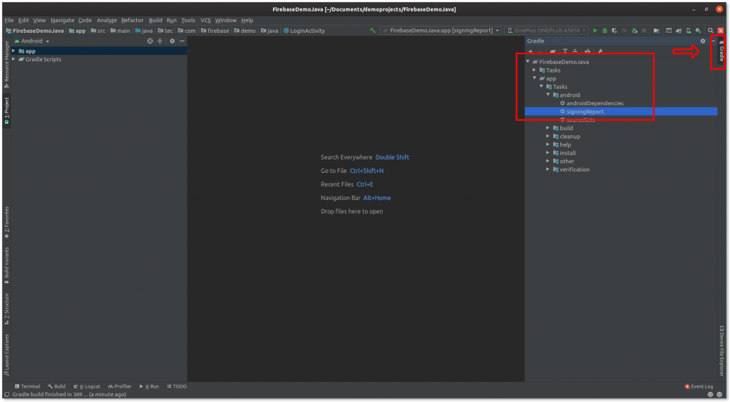 Generating SHA1 using Android Studio